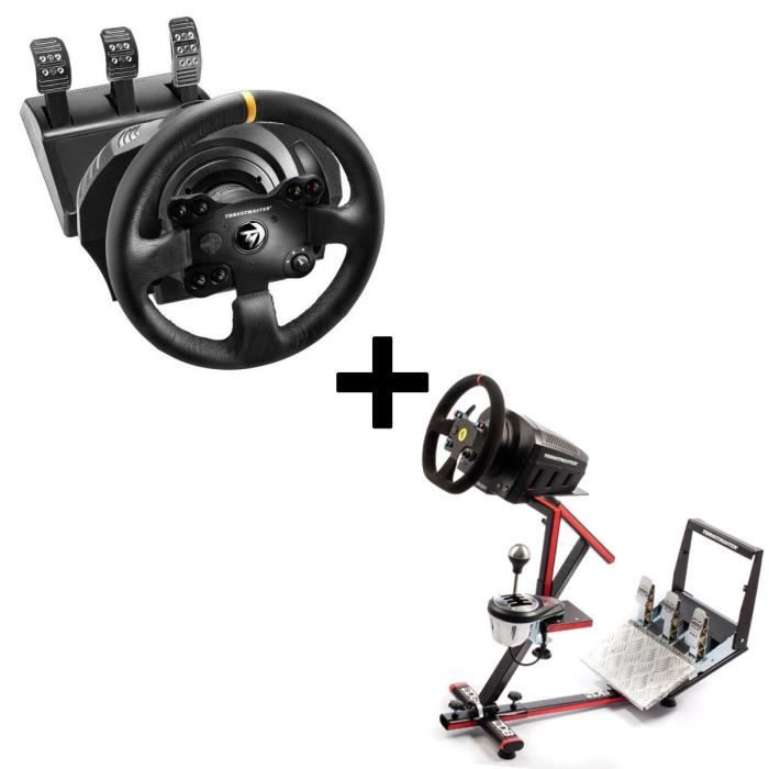 Pack THRUSTMASTER Volant TX Racing Wheel Leather Edition - (PC, Xbox One) + 69DB Support Wheel Stand EVO offert !