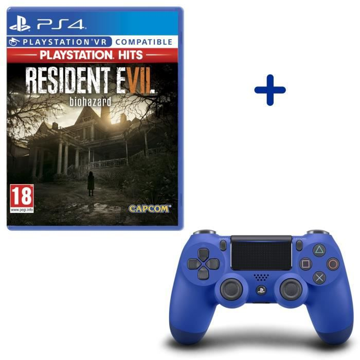 Resident Evil VII PlayStation Hits + Manette DualShock 4 Bleue