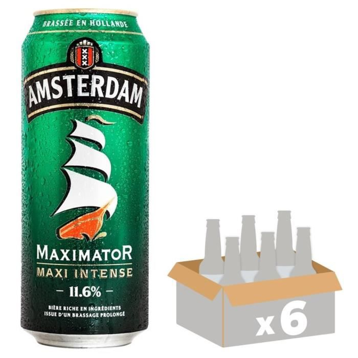 BRASSERIE GROLSCH Amsterdam Maximator Strong Pale Lager - Bière Blonde - 50 cl x6 - 11,6 %