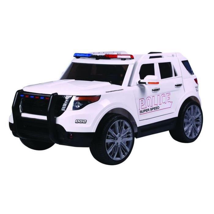 E-ROAD Voiture de police électrique - Blanc