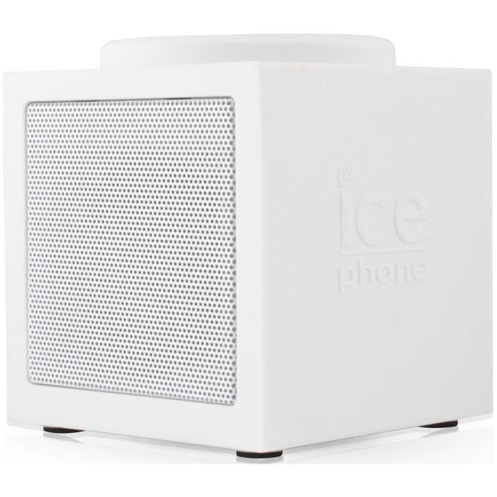 ICE PHONE ICE-MUSIC Enceinte Bluetooth Blanche