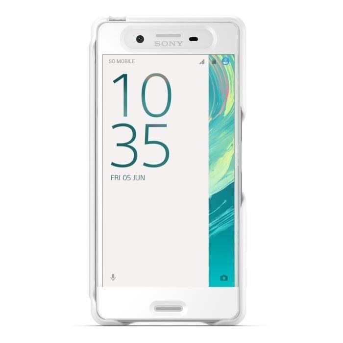 Sony Flip Cover Touch pour Xperia X Blanc