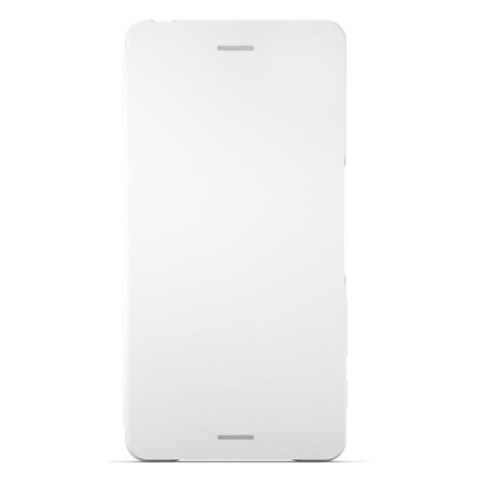 Sony Style Cover Flip Blanc pour Xperia X