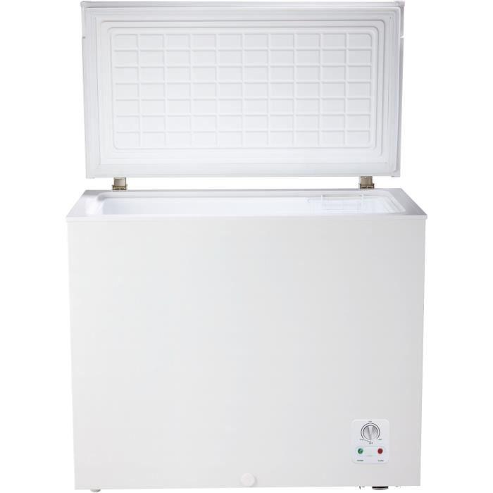 CONTINENTAL EDISON CECC205AP2 Congélateur coffre-194 L-Froid statique-A+-L 89 x H 84 cm-Blanc