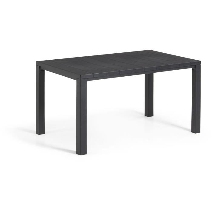 Table imitation bois ALLIBERT 4 à 6 personnes JULIE Graphite