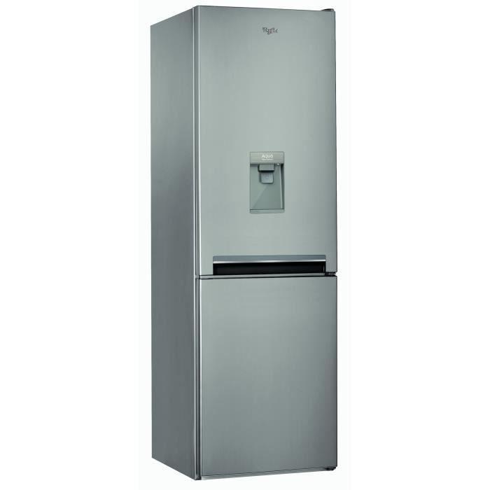 Congélateur bas-319 L (222 L + 97 L)-Froid Total No Frost-A+-L 59,5 x H 188,5 cm-Distributeur d'eau-InoxREFRIGERATEUR CLASSIQUE
