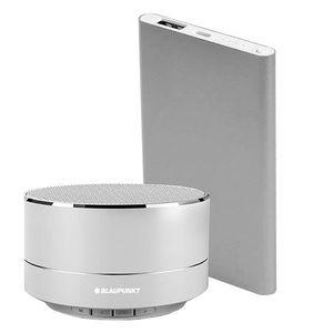 BLAUPUNKT BLP1400 Enceinte Bluetooth 3W et chargeur externe - Argent