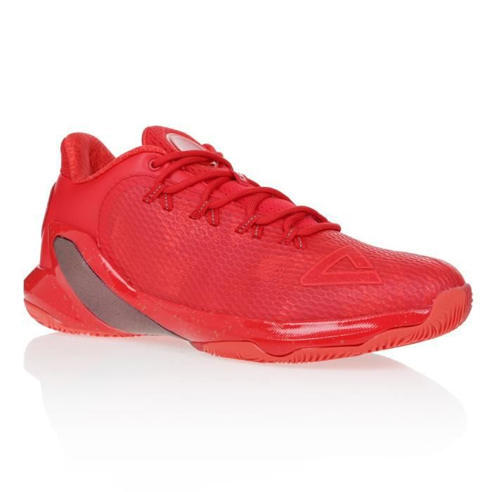 PEAK Chaussures de basketball TP5 - Homme - Rouge
