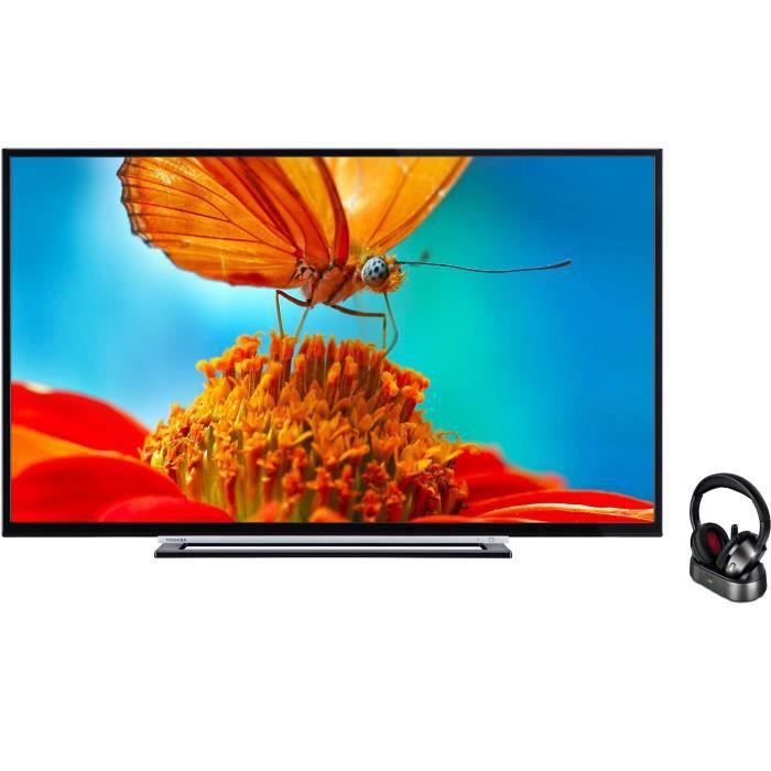 Pack toshiba 55l3763dg tv led 140 cm philips shc853510 casque tv