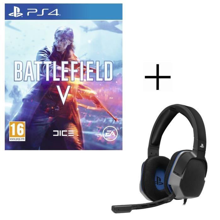 Battlefield V Jeu PS4 + Casque Gamer Afterglow LVL3