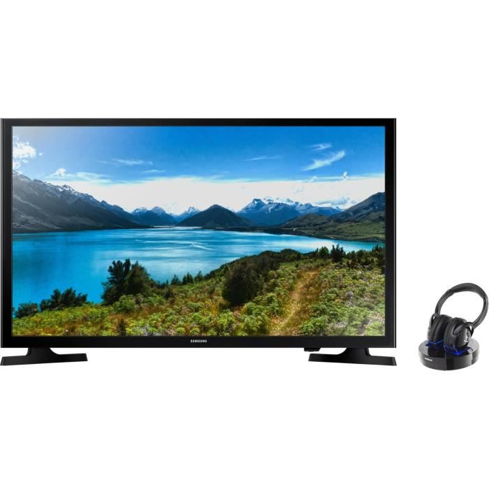 Pack SAMSUNG UE32J40 TV LED HD 80cm + MELICONI HP300 Casque sans fil
