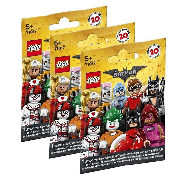 LEGO® Minifigures 71017 Batman Movie - Lot de 3 Sachets Batman