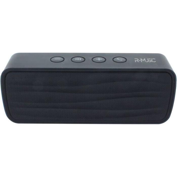 R-MUSIC WAVE - Enceinte Bluetooth - 6h d'autonomie - Micro intégré - Nomade - Noire