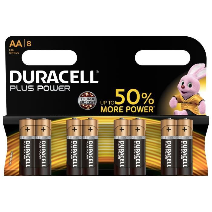 DURACELL 8 Piles Plus Power LR06/AA