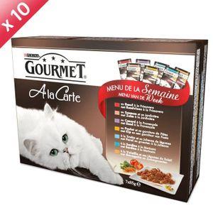 GOURMET Sachets ? la Carte - Menu de la semaine - 7 x 85g (x10) - Pour chat adulte