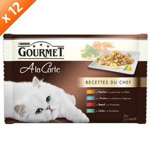 GOURMET A LA CARTE Recettes du Chef - 4 x 85 g (x12) - Pour chat adulte