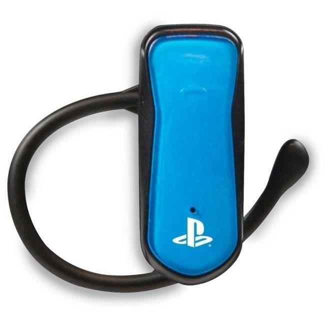 Oreillette Bluetooth pour PS3 BleueCASQUE AVEC MICROPHONE
