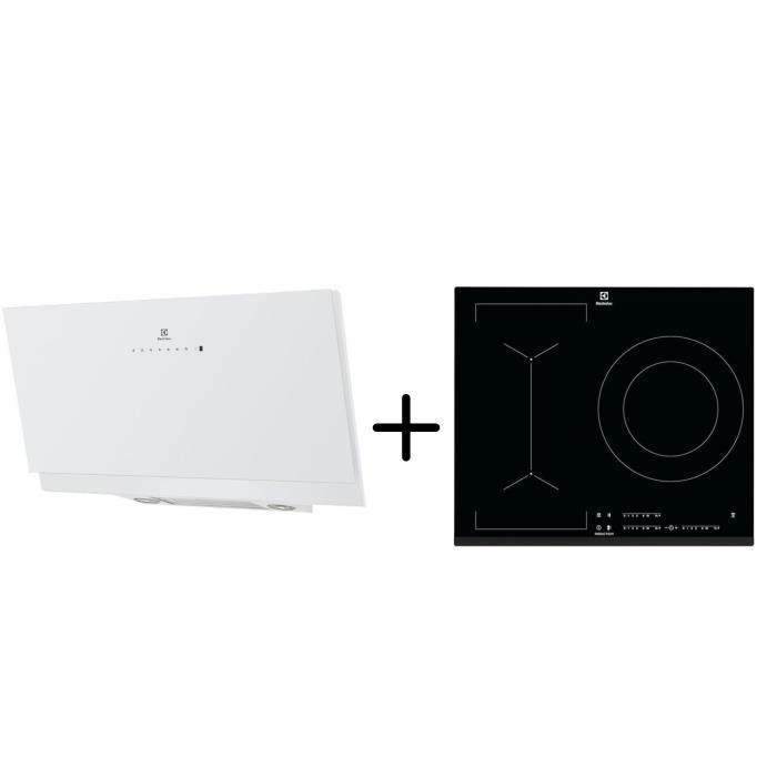 ELECTROLUX EFV90673OW - Hotte décorative murale - Hotte pilotée par la table - B- Blanc + LIV633 - Table induction Pack encastrable