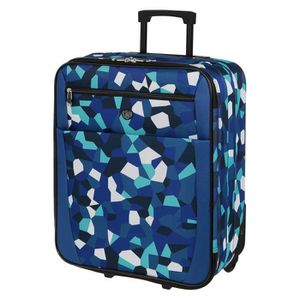 KINSTON Valise Cabine Low Cost Souple 2 Roues 50cm Bleu