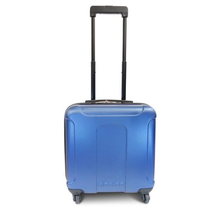 KINSTON Valise Cabine Low Cost Rigide ABS 4 Roues 46 cm Bleu