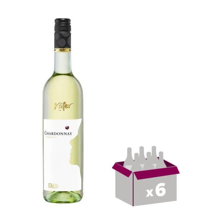 KAFER Chardonnay Vin d'Italie - Blanc - 75 cl x 6