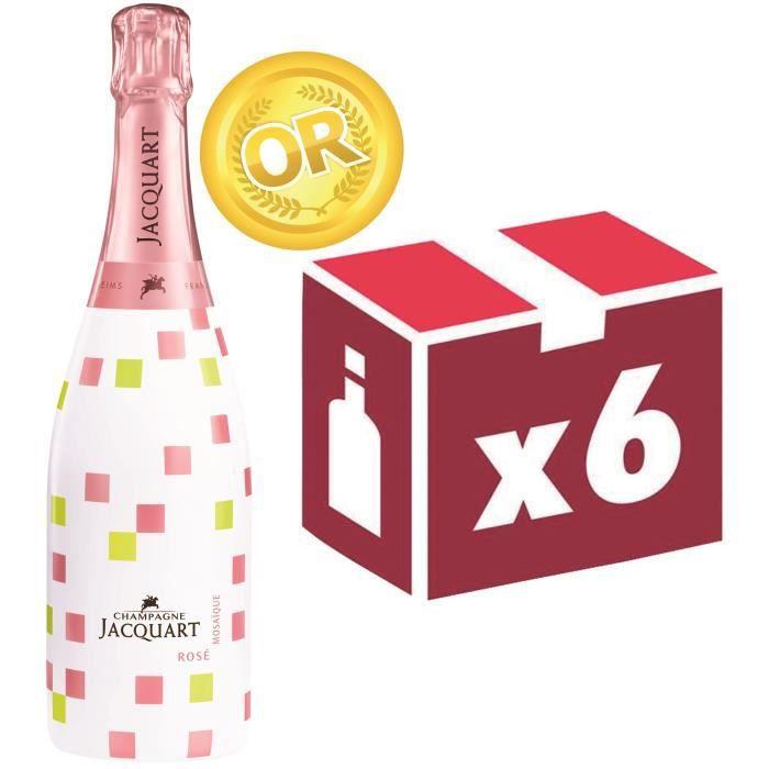 Champagne jacquart rosé mosaïque cube 75 cl