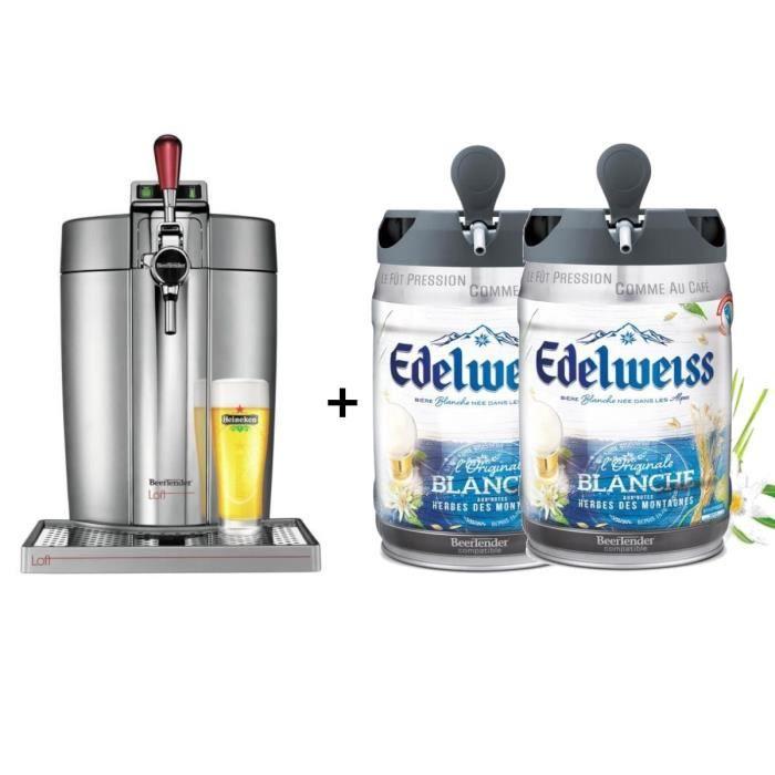 KRUPS Tireuse à bière Beertender - VB700E00 - Compatible fûts 5 L -  Chrome + 2 fûts de bière aux he