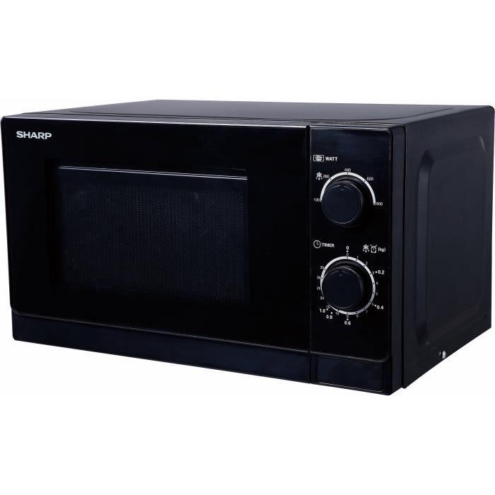 SHARP R-200BKW Micro ondes monofonction noir - 20 L - 800 W - Pose libre