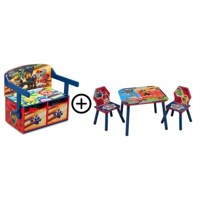 PAT PATROUILLE - Deltakids - Bureau convertible Table & Chaises - Garçon - A partir de 3 ans - Chambre Enfant