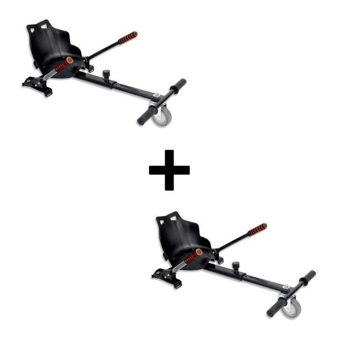Pack URBANKART de 2 Accessoires Kart pour Hoverboard - Noir