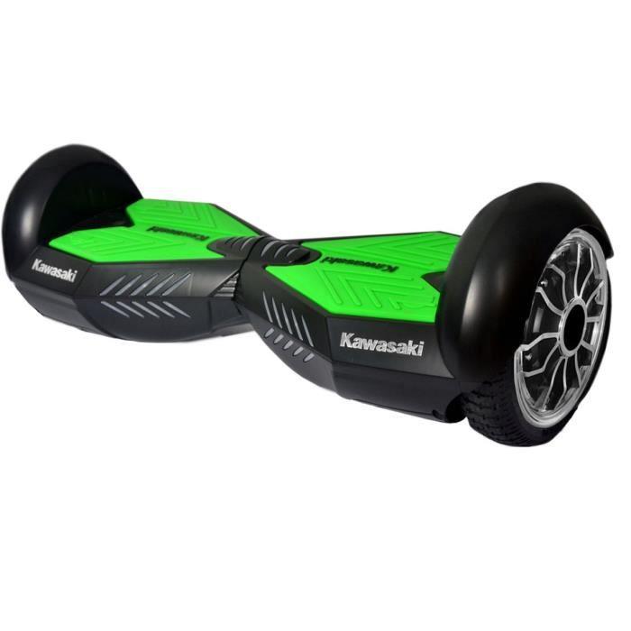 KAWASAKI Hoverboard 10 Pouces 2 x 350 W Noir et Vert