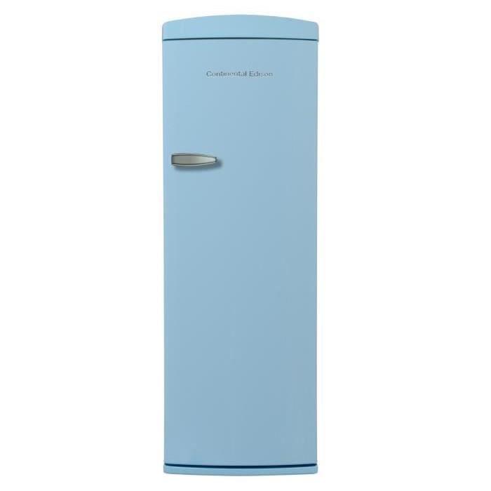 CONTINENTAL EDISON CE1DF311BLV - Réfrigérateur 1 porte - 311L - Froid brassé - A+ - L 60,5cm x H 176,9cm - Bleu