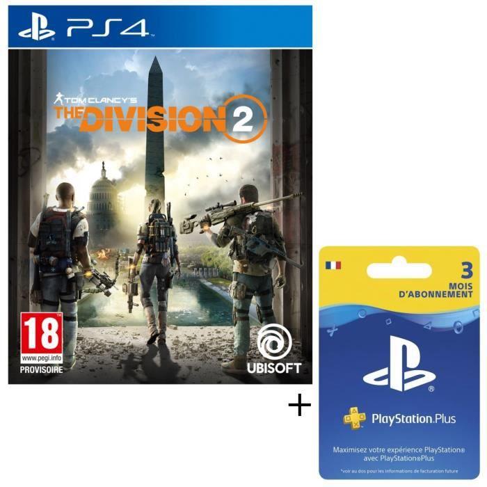 Pack The Division 2 + Abonnement PlayStation Plus 3 Mois