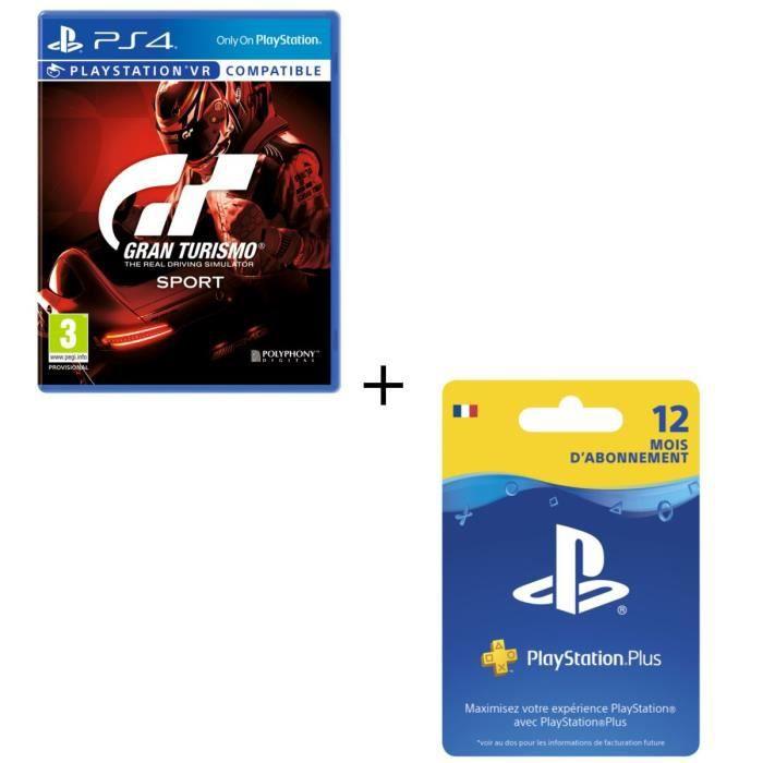 Gran Turismo Sport + Abonnement PlayStation Plus 12 mois