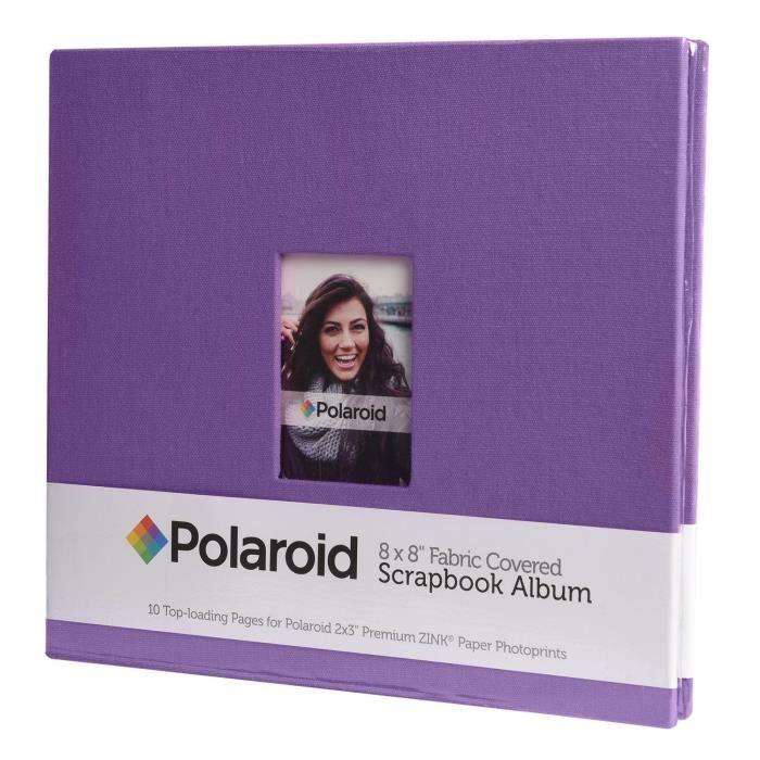 POLAROID PL2X3SBPR Album scrapbooking - 8X8cm - Violet