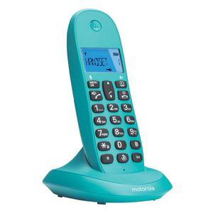 Motorola C1001LB+ Solo Téléphone Sans Fil Sans Répondeur Turquoise