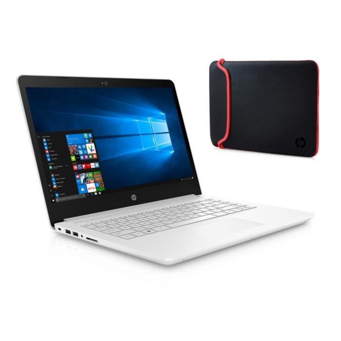 Hp pc portable 14 14bp005nf 4 go de ram windows 10 intel core i5 7200u intel hd 620 disque dur 128 go emmc housse rouge