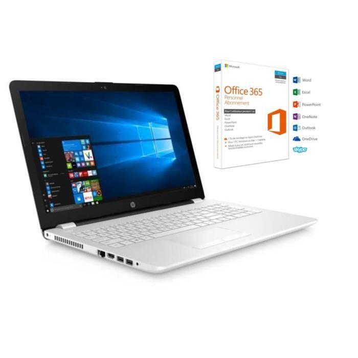 Hp pc portable 15.6 15bw038nf 4 go de ram windows 10 amd a6 9220 amd radeon r4 disque dur 1 to office