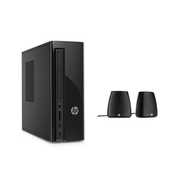 HP PC BUREAU - 260p101nf - 4 Go de RAM - Windows 10- Intel Core i3- Intel HD 530 - Disque dur 1 To + enceintes