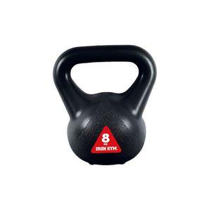 IRON GYM Accessoire de Musculation Kettlebell Crossfit 8Kg Large Poigné Grip
