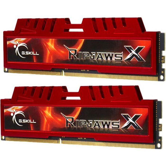 GSKILL - Mémoire PC RAM - RIPJAWSX DDR3 - 8Go - 1600MHz (F3-12800CL9D-8GBXL)