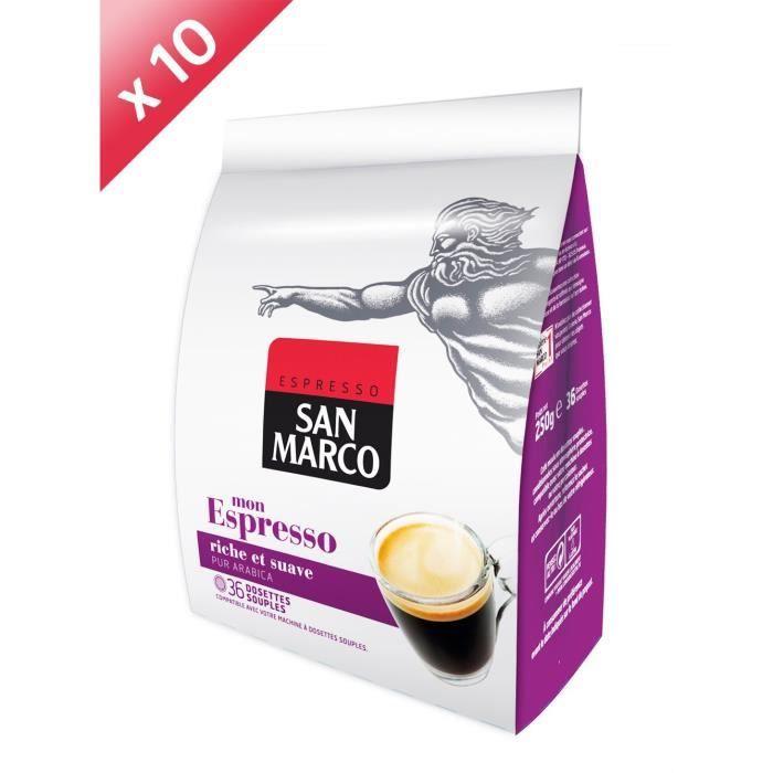 360 dosettes SAN MARCO Espresso Compatible Senseo
