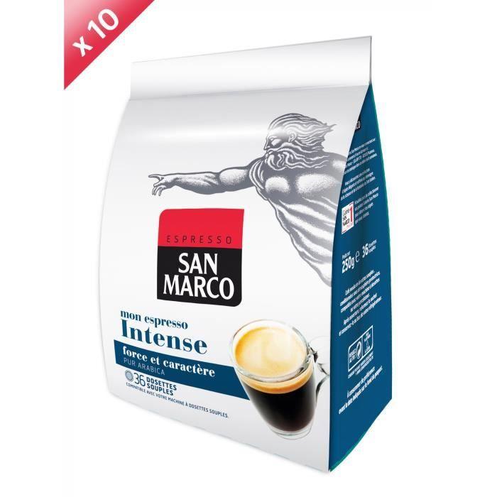 360 dosettes SAN MARCO Espresso Intense Compatible Senseo