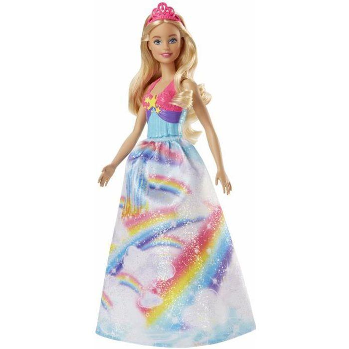 BARBIE - Princesse multicolore arc en ciel 2 - Fille - A partir de 3 ans - Livré à l'unitéPOUPEE