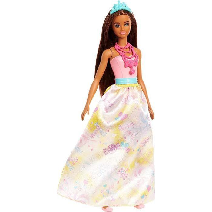 BARBIE - Princesse multicolore bonbons - Fille - A partir de 3 ans - Livré à l'unitéPOUPEE