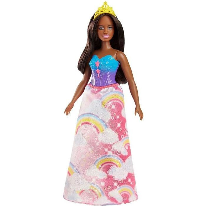 BARBIE - Princesse multicolore arc en ciel - Fille - A partir de 3 ans - Livré à l'unitéPOUPEE