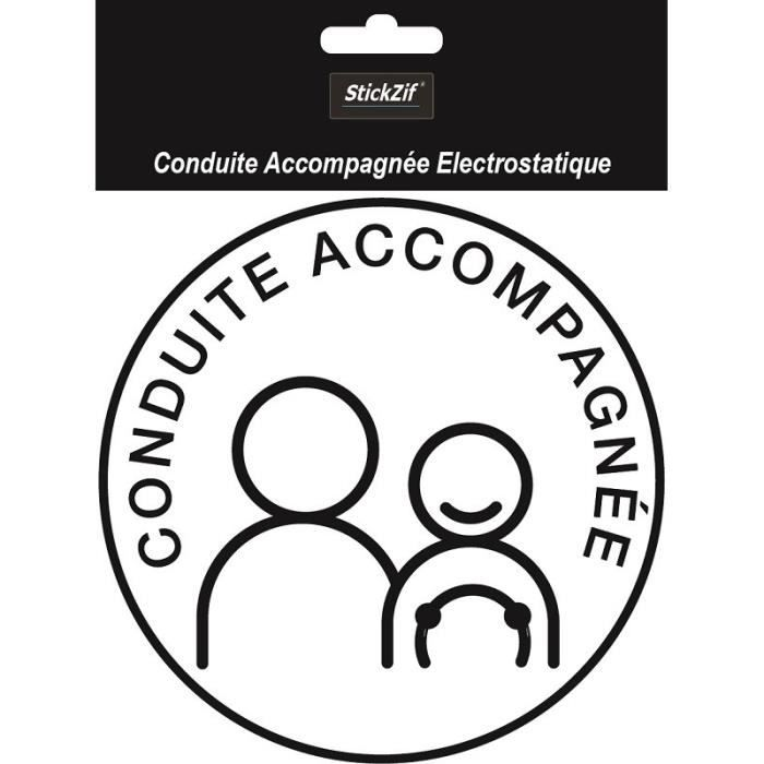 STICKZIF Disque Conduite Accompagnée Électrostatique SCA8