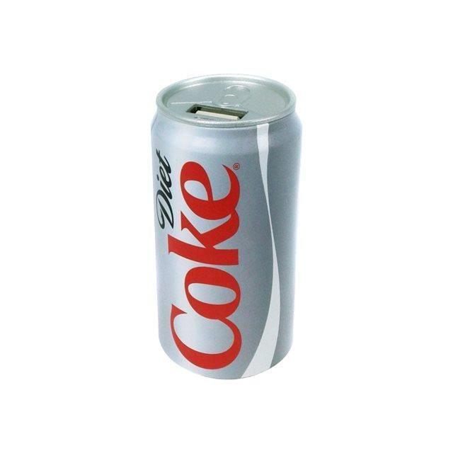 Urban Factory Power Bank 2000 mAh Batterie de Secours Coca-Cola Gris