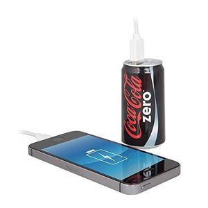 Urban Factory Power Bank 7200 mAh Batterie de Secours Coca-Cola Noir Zéro