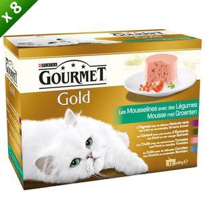 GOURMET GOLD Les Mousselines Multivariétés - 12 x 85 g (x8) - Pour chat adulte